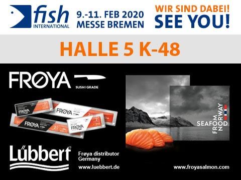 Banner Messe Fish International Lübbert Fisch + Froya Salmon