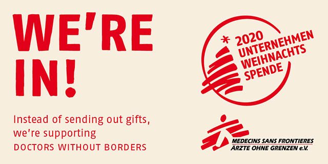 Banner Doctors without Borders Christmas Donation
